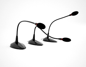 connection Microphone Office Set 3D model