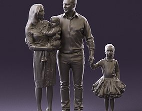 Family man woman child and girl 0918 3D Print Ready