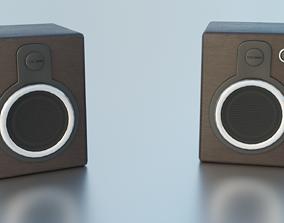 3D model Modern Wooden Speakers