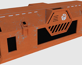Transport Container - Game Ready 3D model