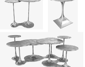 Bernhardt Randolph End Table Circlet Cocktail Table 3d