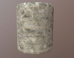PBR Scanned Brushed Discolored Concrete 3D model