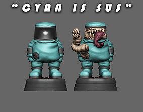 3D printable model Cyan is SUS