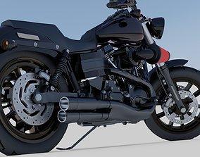 3D model Harley Davidson Low Rider Custom Darkness