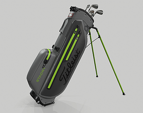 Titleist Gray-Green StaDry Golf Bag Plus 3D