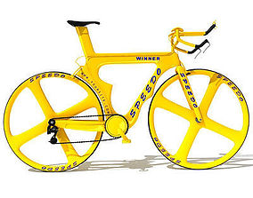 Yellow Bicycle 3D