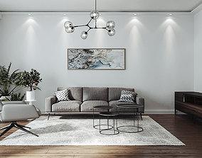 Scandinavian Style Living Room - 3dsMax Corona Render