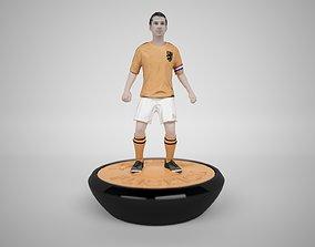 3D asset Subbuteo Table Soccer Player