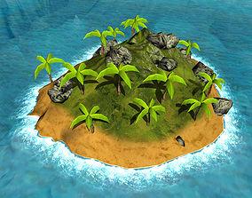 3D asset Island Set