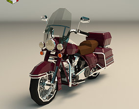 3D asset Low Poly Motorcycle 05