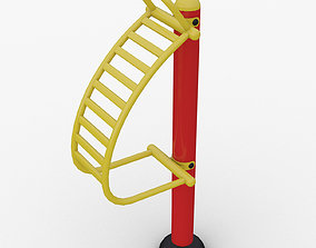Outdoor fitness Equipment back stretching stand model