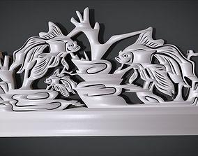 3D printable model Unique Wall Ornament with Fish Ornament