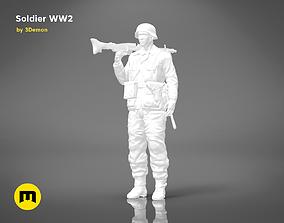 Soldier of World War 2 FIGURE 3D print model