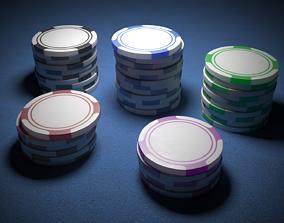 3D Casino Chips Poker Chips