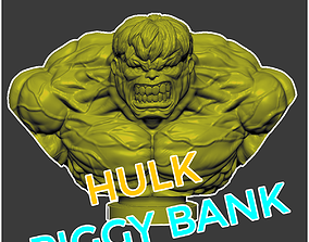 3D print model The Hulk Bust - The Hulk Piggy Bank