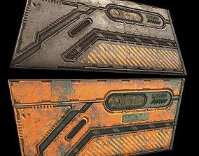 3D model game-ready sci-fi Door -