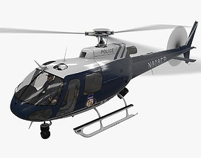 3D model AS-350 Baltimore County Police Animated