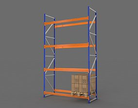 Warehouse Rack and Pallet 3D storage