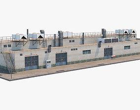 3D asset low-poly Industrial Building