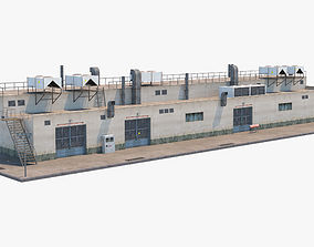 Industrial Building 3D asset