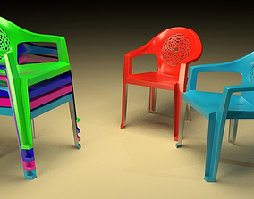 Plastic chair 3D printable model