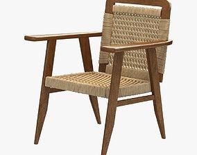 dusty deco lounge chair 3D model