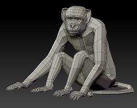 realtime 3D MONKEY LOWPOLY