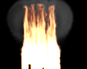 3D FIRE text hard to see