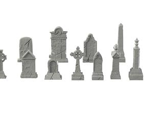 3D print model Tombstone pack