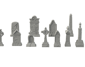 3D printable model Tombstone pack