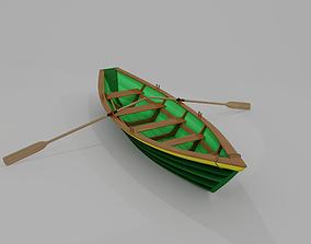 3D model Grand Banks Dory Rowboat
