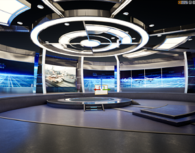Virtual Broadcast Studio 3D model