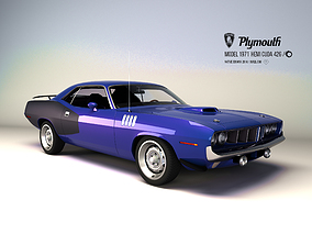 Plymouth Hemi cuda 426 - 1971 3D model