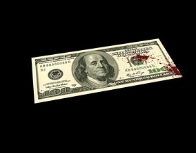 bloody dollars rigged 3D asset