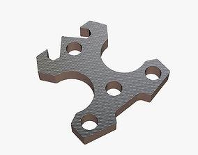 Brass knuckles pseudo tool 3D print model