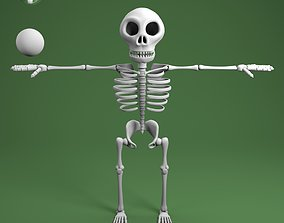 3D model cartoon skeleton