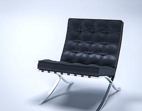 3D Barcelona Chair ludwig