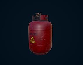 3D asset game-ready Propane Tank explosive