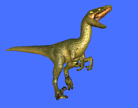 animated Raptor 3D Model