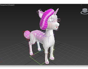 3D model Cartoon unicorn