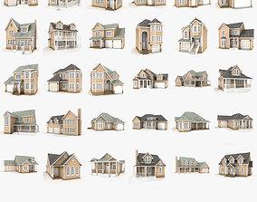 Hi-poly cottages mega pack 03 3D model shutters