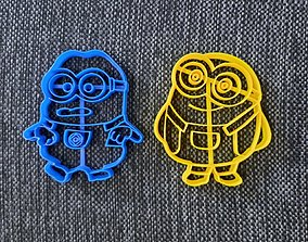 Minions x 2 Cookie Cutter 3D printable model