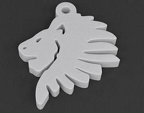 3D print model Lionhead Pendant