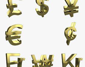 3D model Currency Symbols