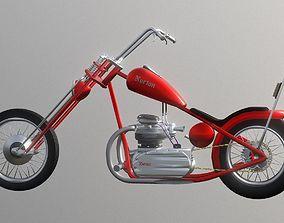 low-poly Norton Chopper Commando 3D Model