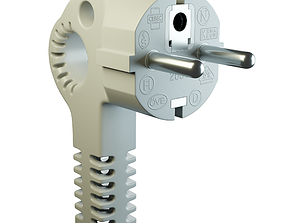 European Electric Plug model 3D