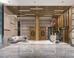 3D Office reception hall Leisure Area Administrative