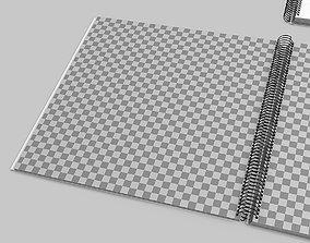 3D Spiral book mockup