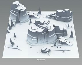 Cartoon Cliffs 3D asset