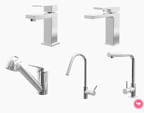 3D asset Fixtures - Kitchen Bathroom Faucet Pack B